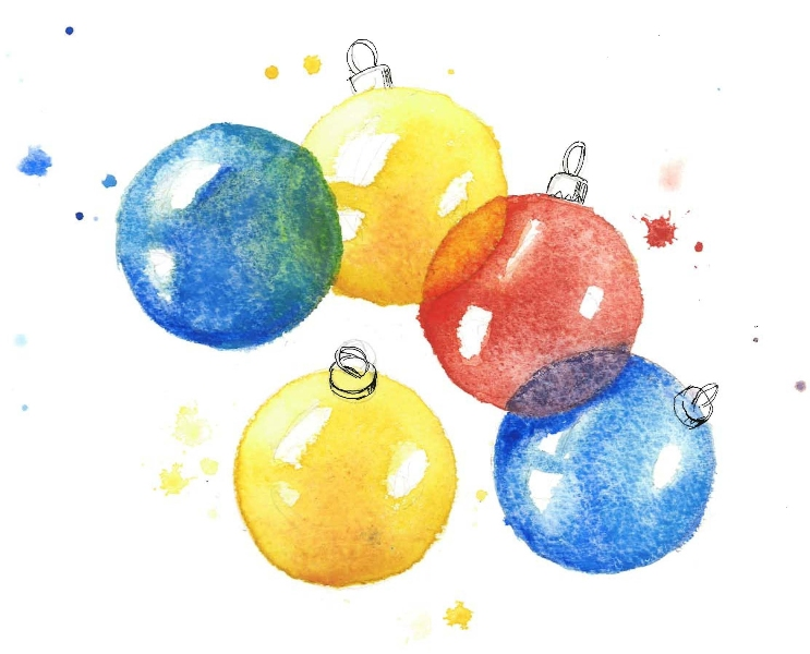 christmas©baubles-watercolour